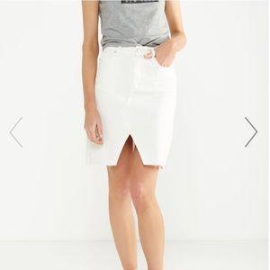 Denim Midi Split Skirt